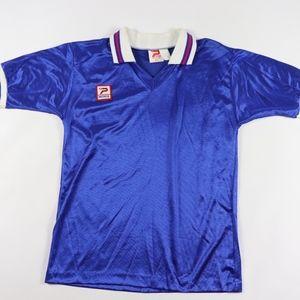 Vtg 80s New Patrick Mens Large Soccer Jersey Blue